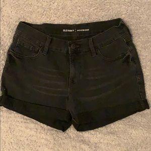 black old navy boyfriend jean shorts